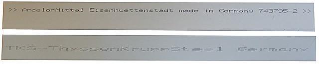 маркировка металлочерепицы Arcelor Mittal