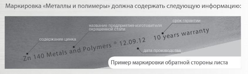 Маркировка металлочерепицы МиП