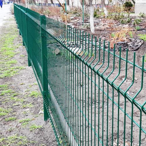 Оцинкованный забор серии  «ЭКО» L-2500мм h-2030мм d-3/3мм