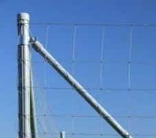 Оцинкованный столб для плетеного ограждения ДФЛ 1,0 H-2300 x 45