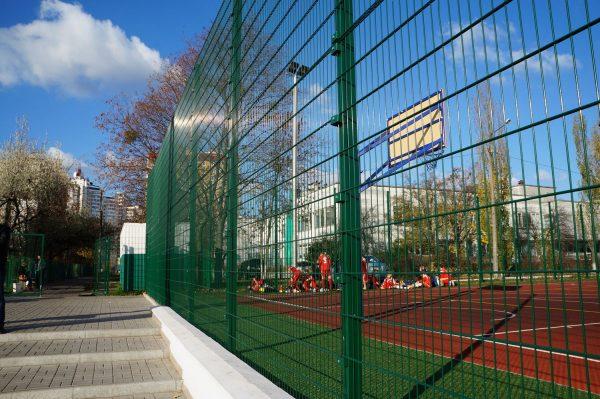 Панельный забор для спортплощадки ТЕХНА СПОРТ H-3м d 4