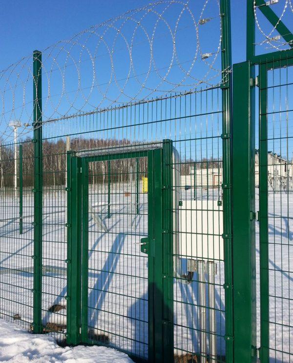 Панельный забор серии ПРОМ ТЕХНА h-1030мм L=2500мм d= 4+2х5 мм