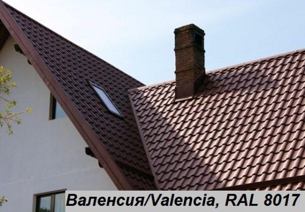 Металлочерепица Валенсия, Польша 0,5 мм, PE