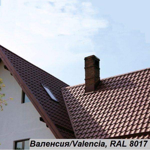 Металлочерепица Валенсия, Китай 0,5 мм, PE