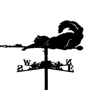 """Флюгер на крышу """"Кот с мышкой"""""""