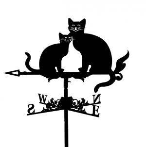 "Флюгер на крышу ""Коты"""