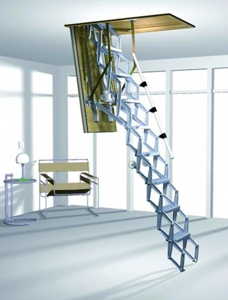 Чердачная лестница Roto Elektro ножничного типа с дистанционным управлением