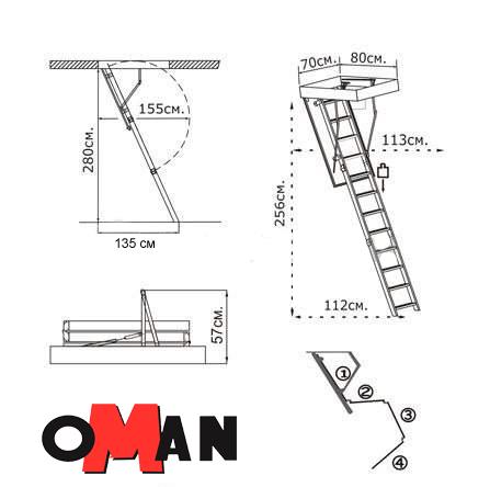 Чердачная лестница Oman MINI TERMO