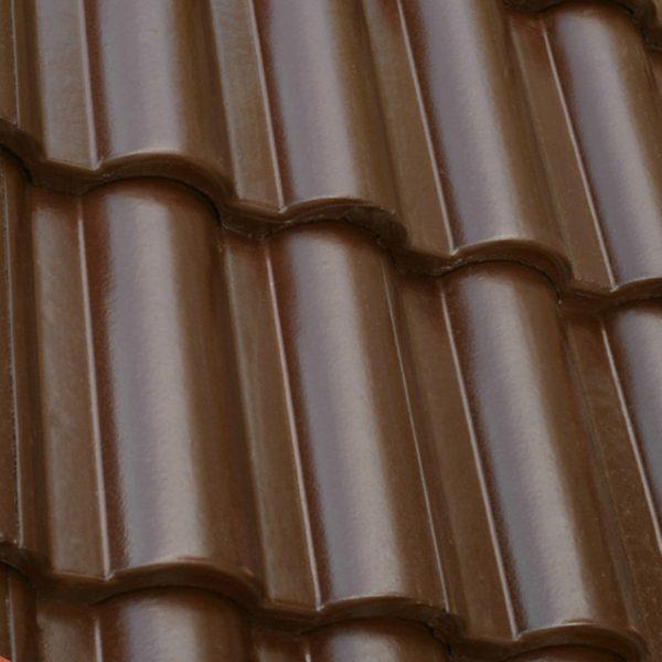 Цементно-песчаная черепица ONDO Marron (темно-коричневый)