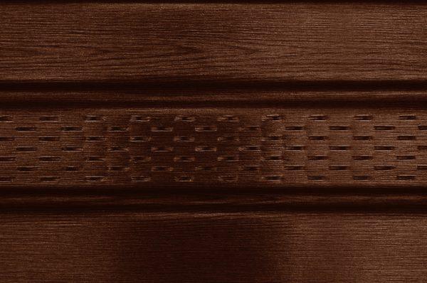 Сайдинг соффит ASKO темный дуб,  панель перфорированная, 3,5 м
