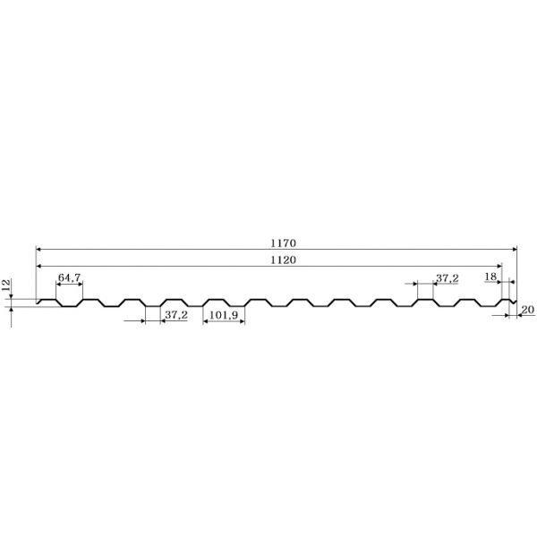 Профнастил ПС-10 Принтек РЕ 0,4 мм, Китай