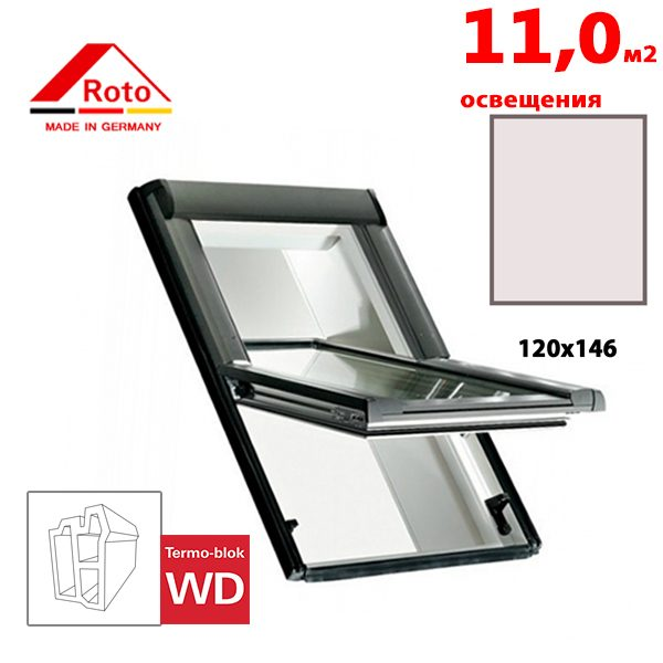Окно на чердак Roto R65K WD 120×146