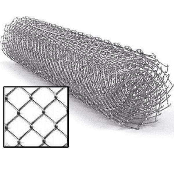 Сетка рабица (оцинковка) яч. 35 х 35 мм / Ø 1,60 мм / h = 1,20 м