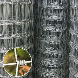 Плетеное оцинкованное ограждение ДФЛ, H-1,6 х L-50 м/пог