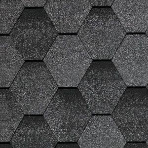 Битумная черепица Kerabit Тройка К+ микс (цвет: Серый микс)