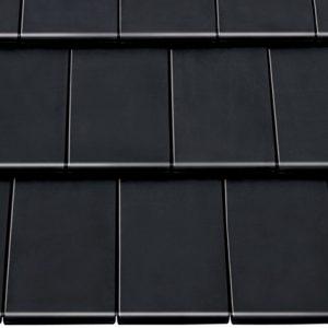 Керамическая черепица Braas Турмалин (покрытие- глазурь), цвет- иссиня черный