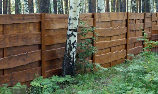 """Деревянный забор """"Щит-2"""" – 1.7х2.0"""