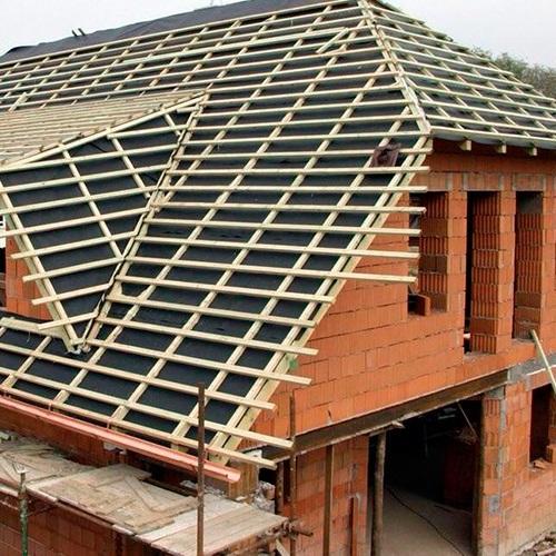 Монтаж натуральной черепицы – сложная крыша (только кровельное покрытие)