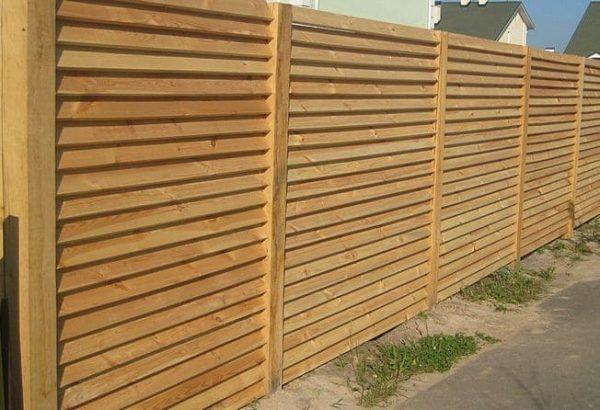"Деревянный забор ""Жалюзи-0""  1.7х2.0"