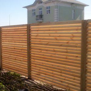 "Деревянный забор ""Жалюзи-1""  1.7х2.0"