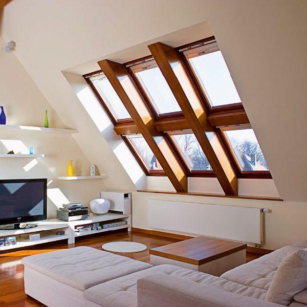 Окно на мансарду Roto R69P WH WD 120×146 (белая сосна)