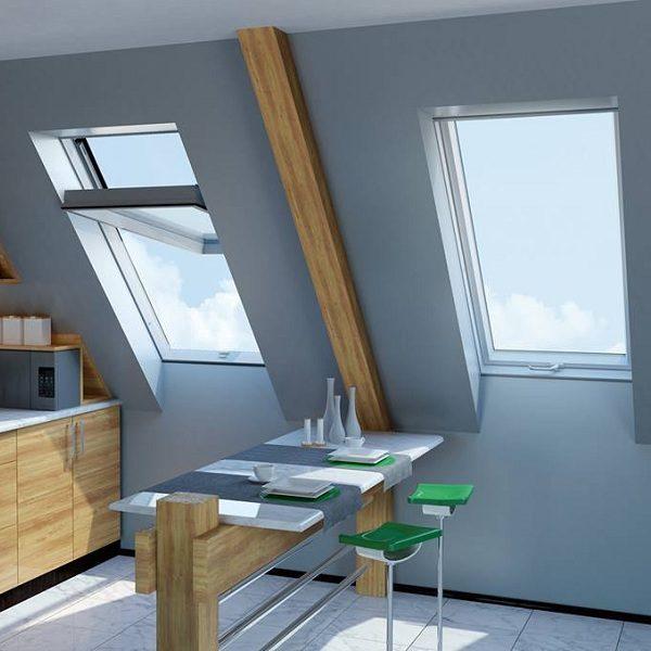 Окно для кровли Roto R45WH WD 80×124 (белая сосна)