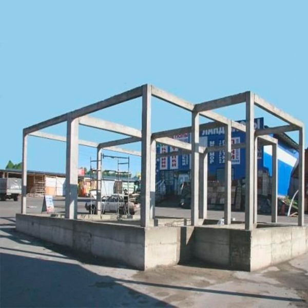 Строительство монолитных колон сечением 400х400 мм
