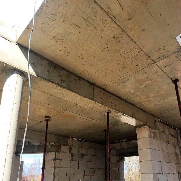 Строительство монолитной балки сечением 200х200 мм