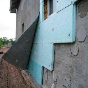 Работы по утеплению фасада экструдером 100 мм (без финишного покрытия)