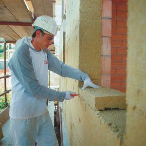 Утепление фасада минеральной ватой 100 мм (декор: минеральная штукатурка+ краска)