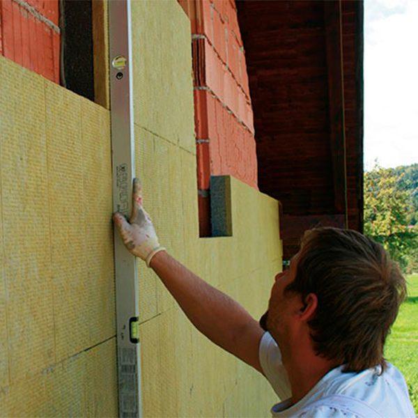 Фасадное утепление минеральной ватой 50 мм (декор- структурная краска)