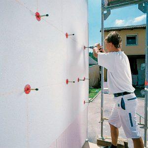 Работы по утеплению фасада пенопластом 100 мм  (декор: тонированная штукатурка)