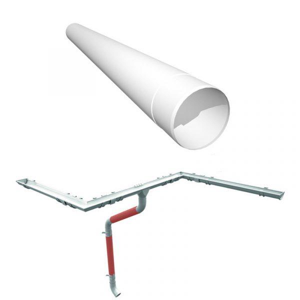 Труба водосточная Руукки, 1м (система 125/90)