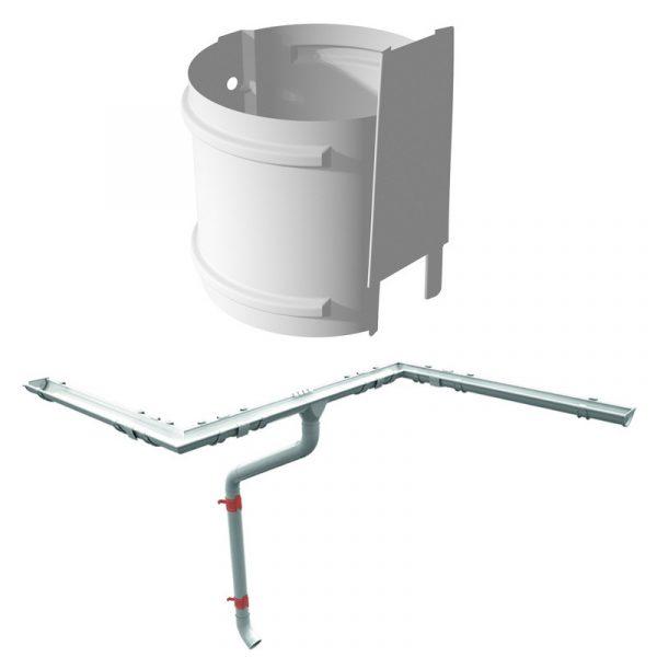 Метиз для крепления трубы Руукки на кирпичную стену 250 м (125/90)