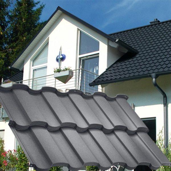 Модульная металлочерепица Риалто Prelaq X-Matt (SSAB-Швеция).